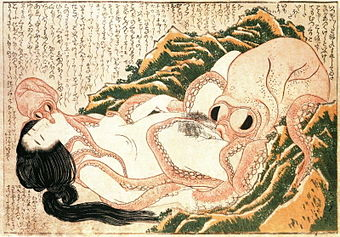 Hokusai octopus woman